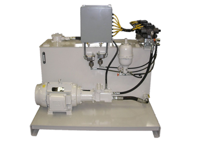 400 Gallon L-Shaped Hydraulic Unit with Control Panel