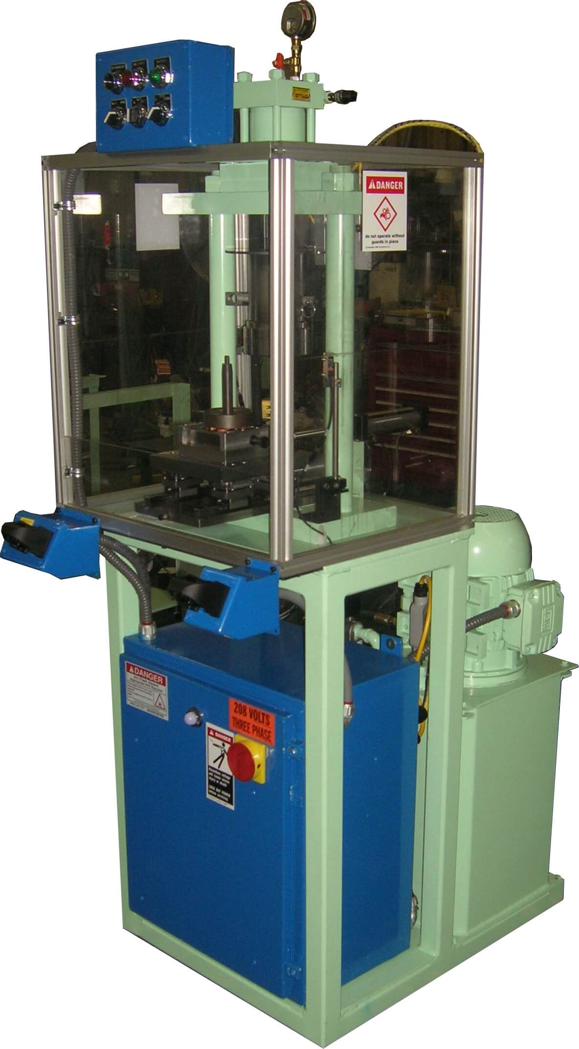 5 ton dual stage press with transfer rails